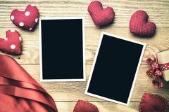 Blank photo card Stock Photos