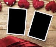 Blank photo card Stock Photo