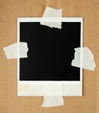 Blank photo card with masking tape Royalty Free Stock Image