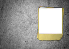 Blank Photo on Concrete Wall Royalty Free Stock Images