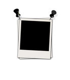 Blank Photo with Drawing Pins Royalty Free Stock Photo