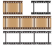 Blank Photo Film. Blank black-white and brown photo film illustration royalty free illustration