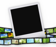 Blank photo with film Royalty Free Stock Photo