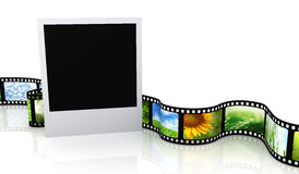 Blank photo with film Royalty Free Stock Image