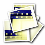 Blank photo film strip. On white Stock Images