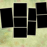 Blank photo frame background Royalty Free Stock Photos
