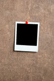Blank photo frame. On a wall Royalty Free Stock Image
