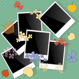 Blank photo frame on autumn Royalty Free Stock Photography