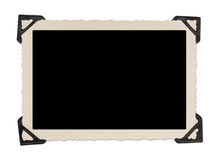 Blank photo frame with corner tabs Stock Photos