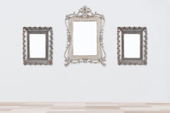 Blank photo frame. Gray background Royalty Free Stock Photo