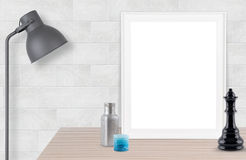 Blank photo frame gray background. Blank photo frame gray Block background royalty free stock image