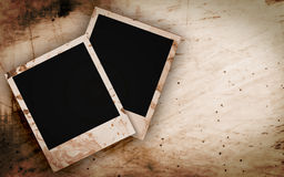 Blank photo frame on the grunge Stock Images