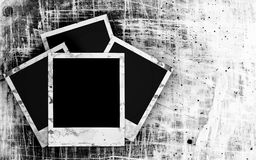 Blank photo frame on the grunge Royalty Free Stock Photography