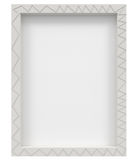 Blank photo frame isolated on white Stock Photography