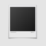 Blank photo frame isolated on white background. Vector  illustration. Realistic. Face side Royalty Free Stock Photography