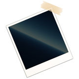 Blank photo frame with piece of tape Royalty Free Stock Images