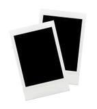 Blank photo frame. Retro photo frame polaroid isolated on white background Two Objects Stock Photo
