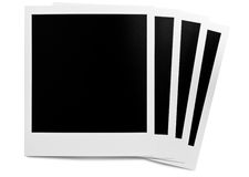 Blank photo frame row. Blank photo frames in a row Stock Images