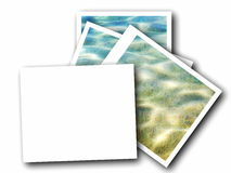 Blank photo frame and sea waves Royalty Free Stock Image