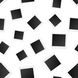 Blank photo frame seamless pattern background. Business stock illustration