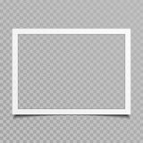 Blank photo frame with shadow. royalty free illustration