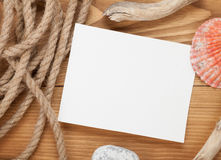 Blank photo frame with ship rope Royalty Free Stock Images