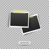 Blank photo frame. Vector illustration, eps 10. Retro vintage style. Place for your text. Stock Photos
