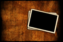 Blank photo frame on wall Royalty Free Stock Photography