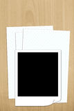 Blank photo frame on white paper isolted Royalty Free Stock Photos