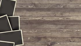 Blank Photo frame on wooden background royalty free stock photo