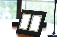 Blank photo frames stock images