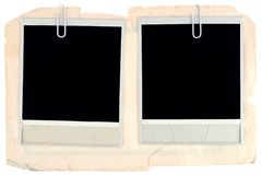Blank photo frames Royalty Free Stock Photos