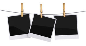 Blank photo frames Royalty Free Stock Image
