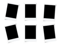 Blank photo frames. Isolated on white background Stock Illustration