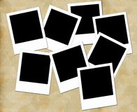 Blank photo frames. On aged background Stock Photography