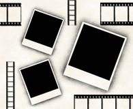 Blank photo frames and film strip Stock Photos
