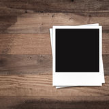 Blank photo frames and free space on left side Royalty Free Stock Photos