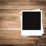 Blank photo frames and free space on left side Royalty Free Stock Photo