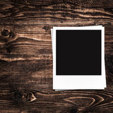Blank photo frames and free space on left side Stock Photography