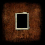 Blank photo frames on grunge background Royalty Free Stock Images
