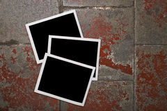 Blank photo frames on grunge background Stock Photography