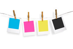 Blank photo frames on line Royalty Free Stock Images