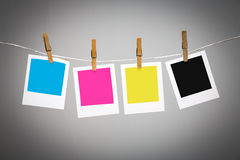 Blank photo frames on line Stock Image