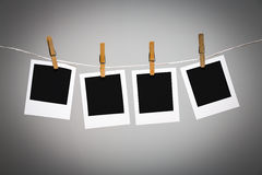 Blank photo frames on line Stock Photo
