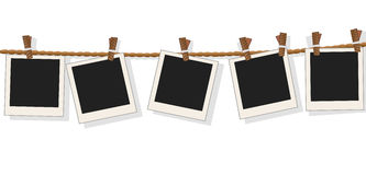 Blank photo frames on line,vector Royalty Free Stock Photography