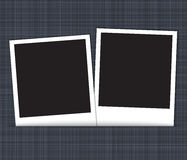 Blank photo frames on linen background Royalty Free Stock Photo