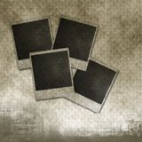 Blank photo frames on Old paper Royalty Free Stock Photography