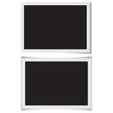 Blank photo frames with shadow on back vector. Royalty Free Stock Images