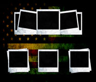 Blank photo frames on USA flag Stock Image