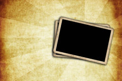 Blank photo frames on vintage wall Royalty Free Stock Photos